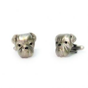 British Bulldog Novelty Cufflinks by Onyx-Art New in Gift Box CK104